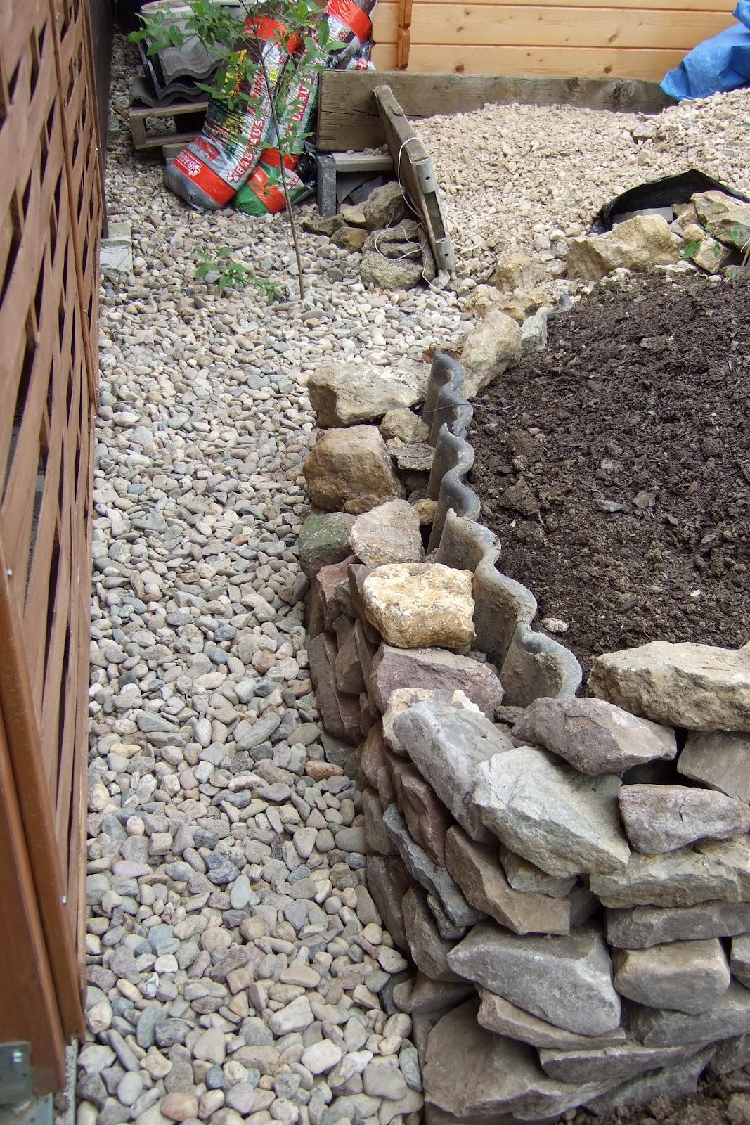 projekt-blog maik müller: projekt hochbeet mit natursteinmauer