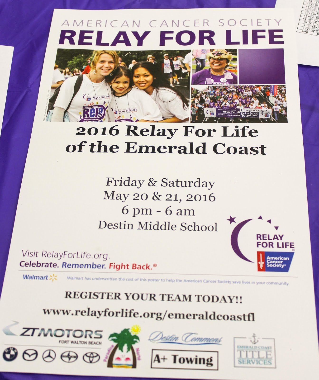 Did you know that more than four million people in over twenty countries raise awareness and funds to save lives from cancer through the relay for life