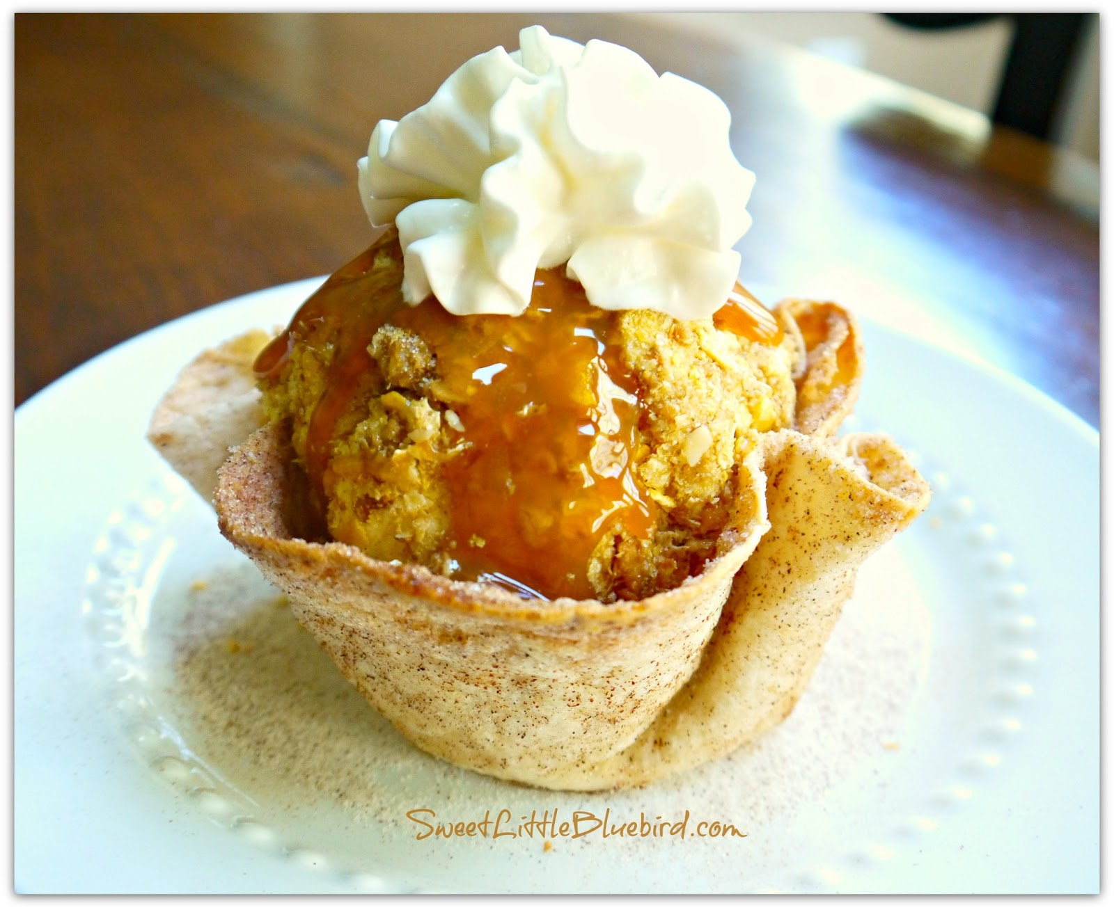 Cheater Fried Ice Cream! No frying! Simple to make! Oh so good