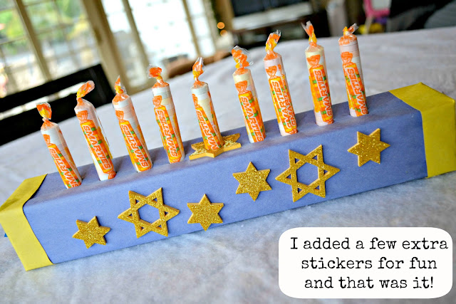Mommy Testers #IAmASmartie Smarties Candy Hanukkah Menorah for Kids Step 11