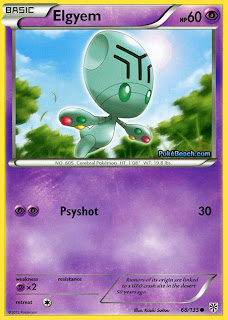 Elgyem Plasma Storm Pokemon Card