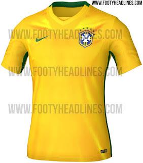 berita bocoran jersey copa amerika Gambar jersey Brasil home terbaru Copa Amerika 2015