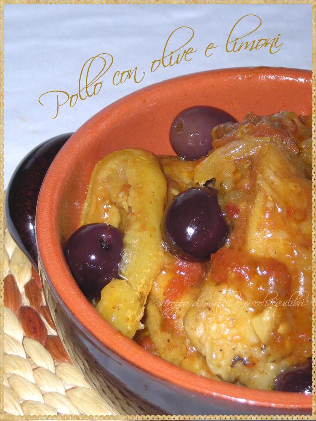 Pollo con olive e limoni