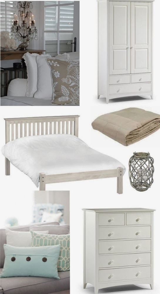 Hamptons Bedroom Moodboard Take Some Basic White Furniture And Add