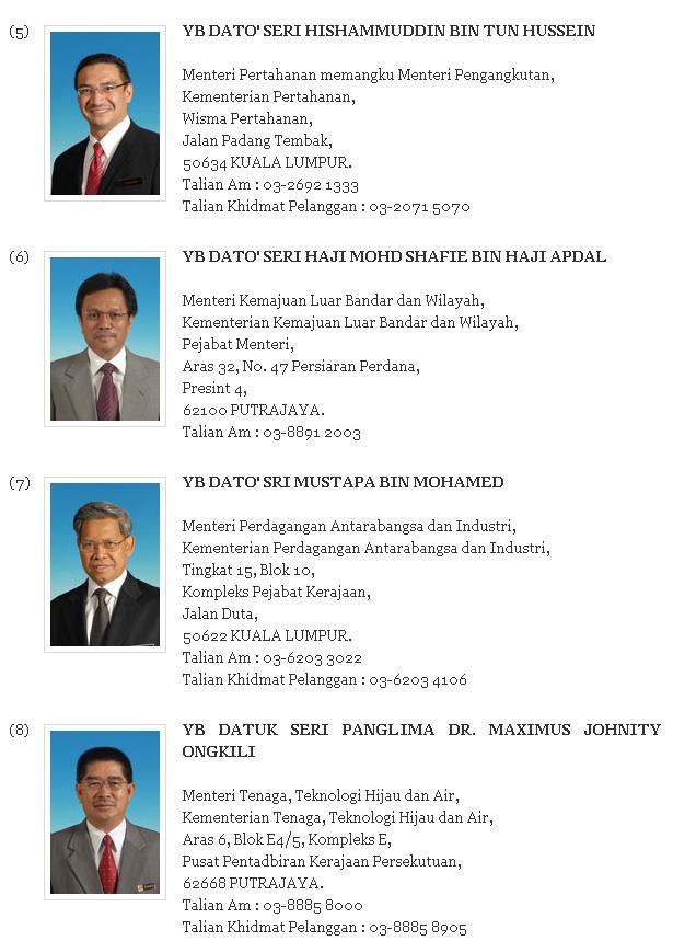 Menteri Malaysia