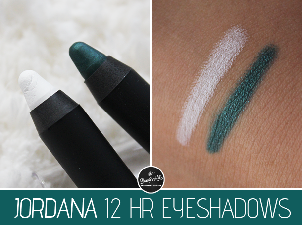 jordana made to last eyeshadow sticks review swatch emerald white