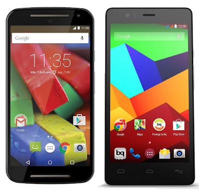 Motorola Moto G 4G (2015) vs bq Aquaris E5 LTE