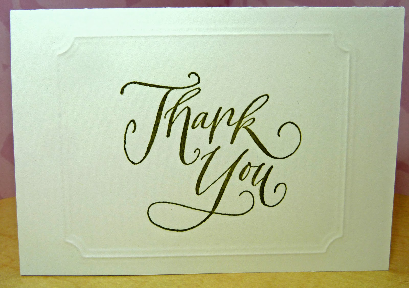 cards by the sea one layer formal thank you cards