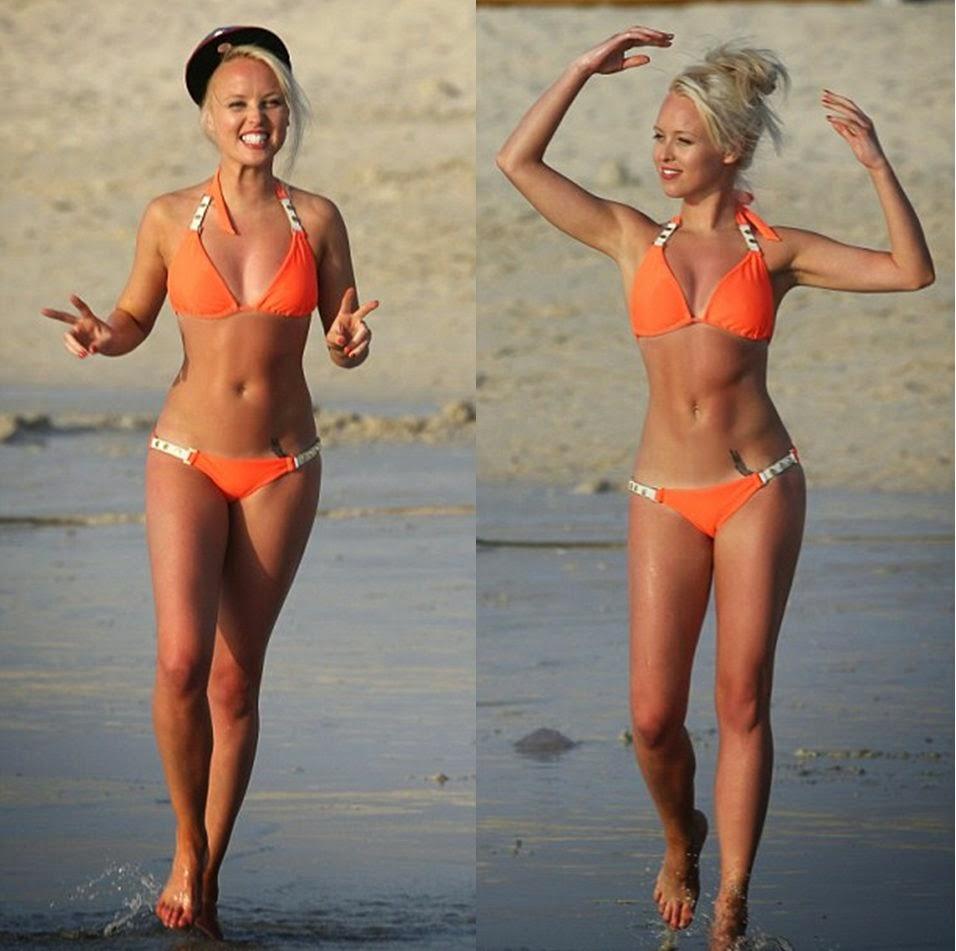 Gemma Merna and Jorgie Porter Bikini Body in Dubai on Tuesday, April 22, 2014