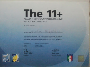 INSTRUCTOR CERTIFICATE  FIFA PROGRAMME THE 11+