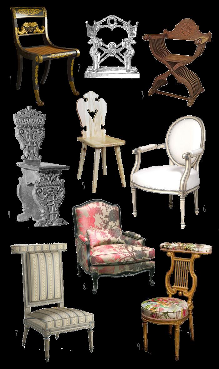 Krzesło od Grecji po nowoczesność
