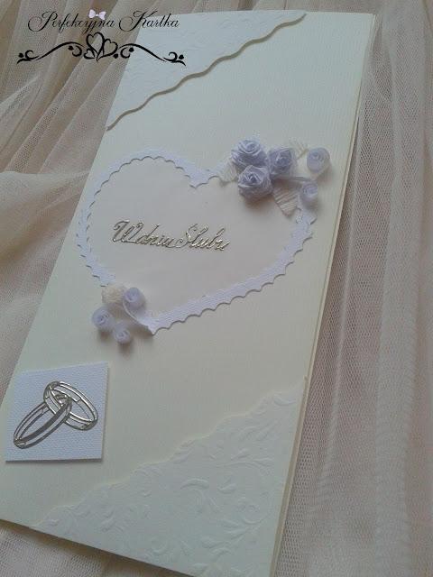 kartka ślubna rękodzieło perfekcyjna kartka