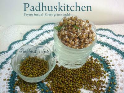green gram sundal-payaru sundal