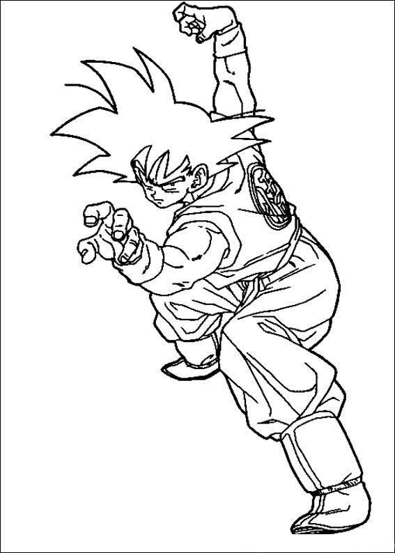 Desenhos Para Colori Dragon ball z goku  desenhar