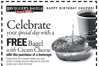 brueggers bagels birthday freebie coupon