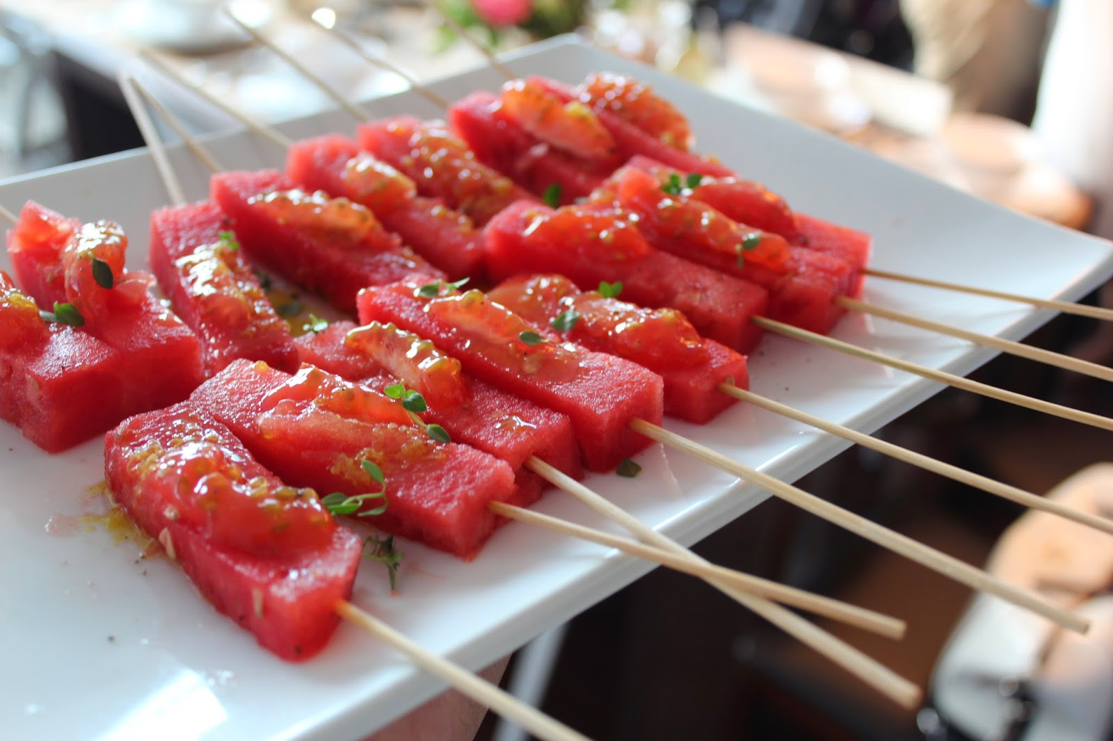 Tomato-Watermelon Skewers