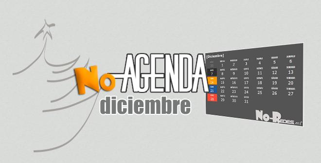Agenda de diciembre con personajes, efemérides, acontecimientos, festivales, citas deportivas...  planifica tus redes sociales con No-Agenda