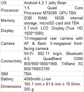 Kata M1 Specifications