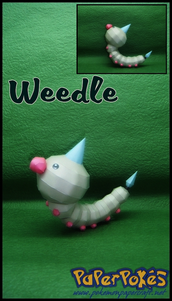 Pokemon Weedle Papercraft