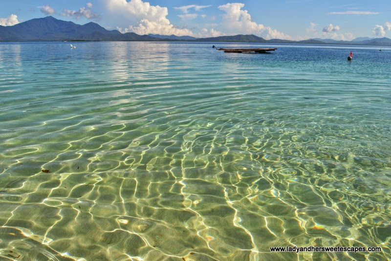 clear waters of Honda Bay