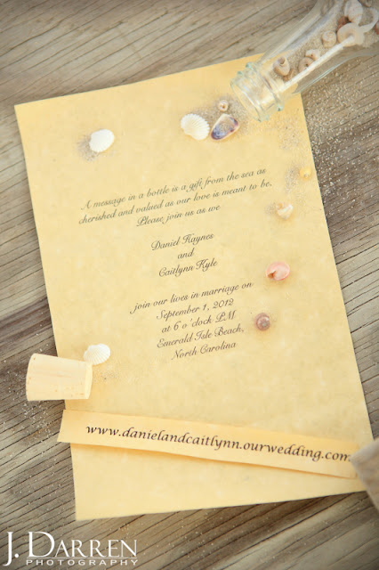 photo of Beach Wedding invitations Emerald Isle North Carolina