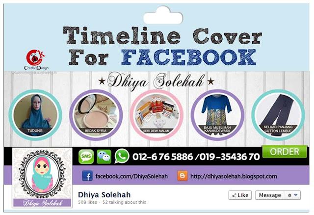 Tempahan Design Facebook Timeline Cover