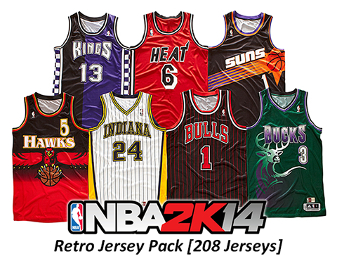 NBA 2K14 Retro Jerseys Mod Pack