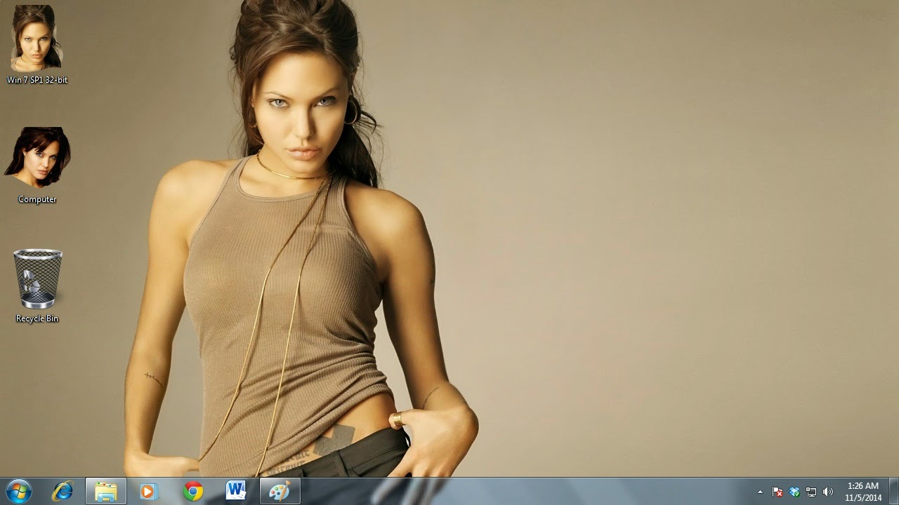 Angelina Jolie theme for Windows 7 / 8 / 8.1