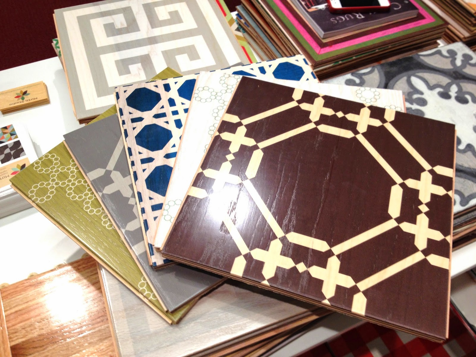 COCOCOZY for Mirth Studio painted wood floor tile