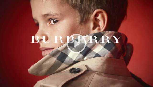 Romeo beckham in new burberry caign 2013