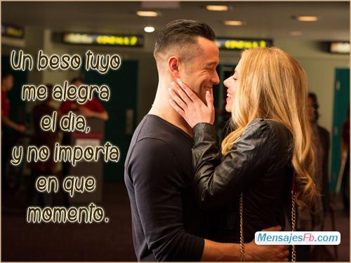 postales romanticos con frases de beso