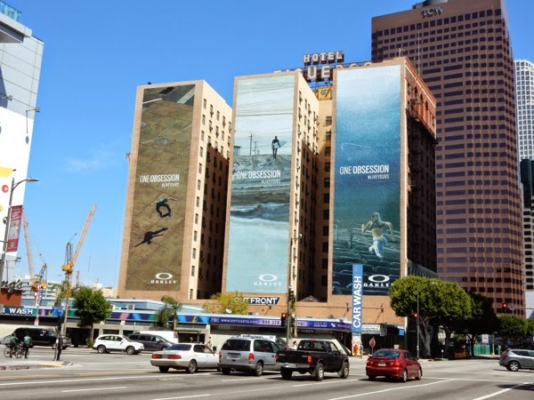 Giant Oakley One Obsession billboards