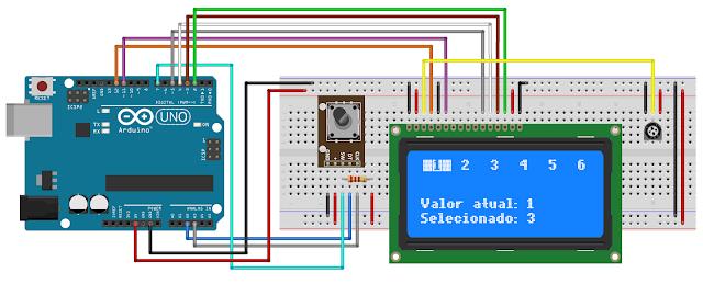 Circuito Arduino Encoder Arduino LCD 20x4