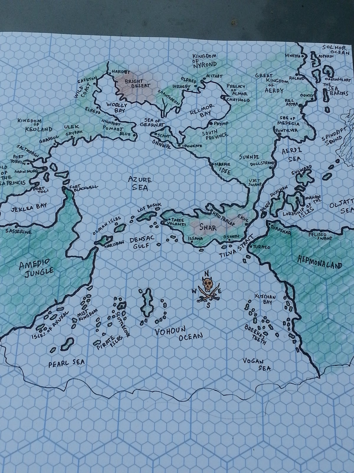 Sea Princes: Hand Drawn Greyhawk Map