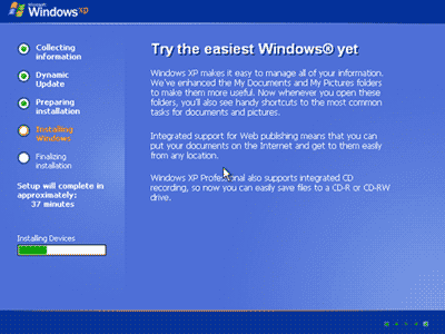 Penyempurnaan instalasi Windows
