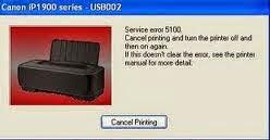 Cara Mengatasi Eror 5100 Printer Canon IP1980 IP2770