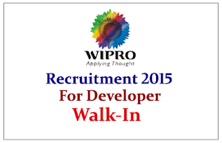Wipro Technologies Walk In Drive for the Developer & Lead 2015