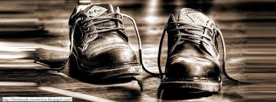Couverture facebook chaussures noir et blanc