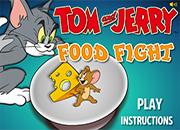Tom y Jerry guerra de comida