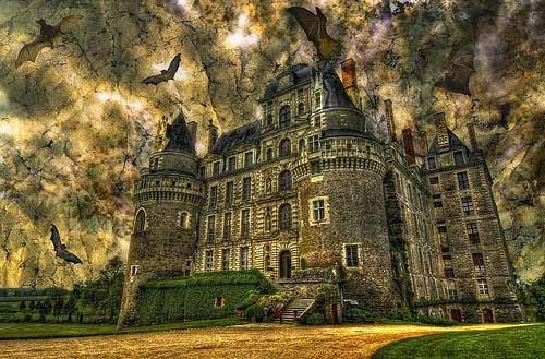 замък с прилепи