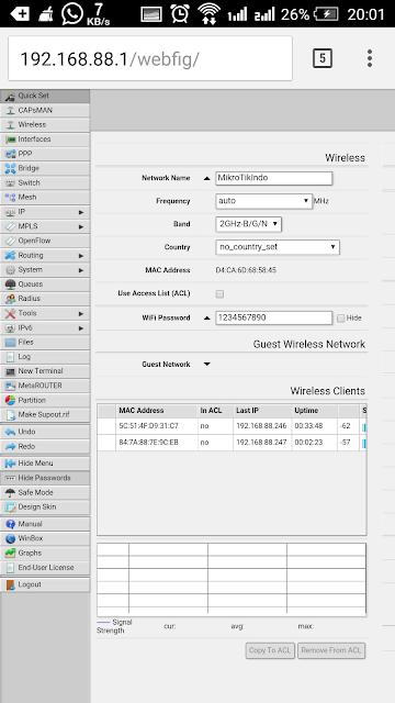 Cara Mudah Setting Mikrotik Menggunakan Android via Webfig – Pusat Pengetahuan