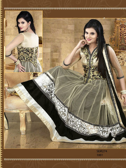 Exclusive Neck Embroidery Designer Anarkali Suits