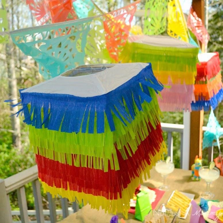 Cinco De Mayo party table DIY pinata lanterns