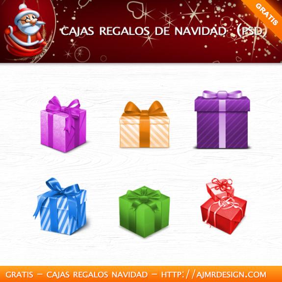Cajas regalos de navidad (PSD)