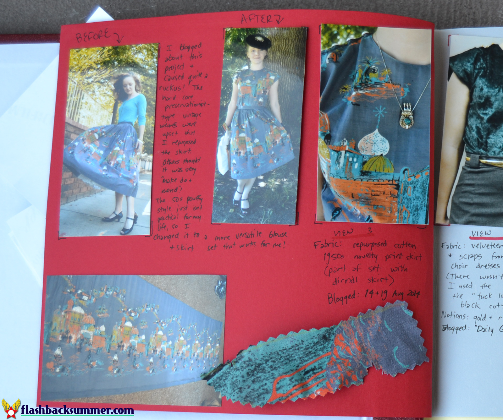 Flashback Summer: Creating a Project Journal - Sewing DIY