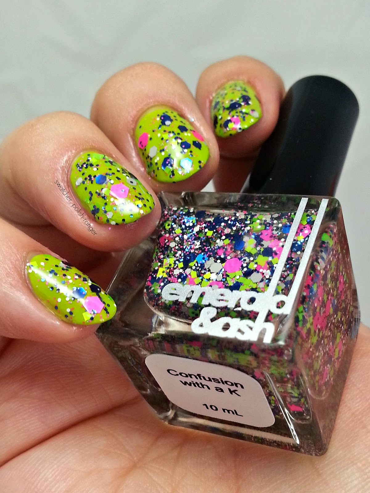 Emerald & Ash Confusion With A K swatch