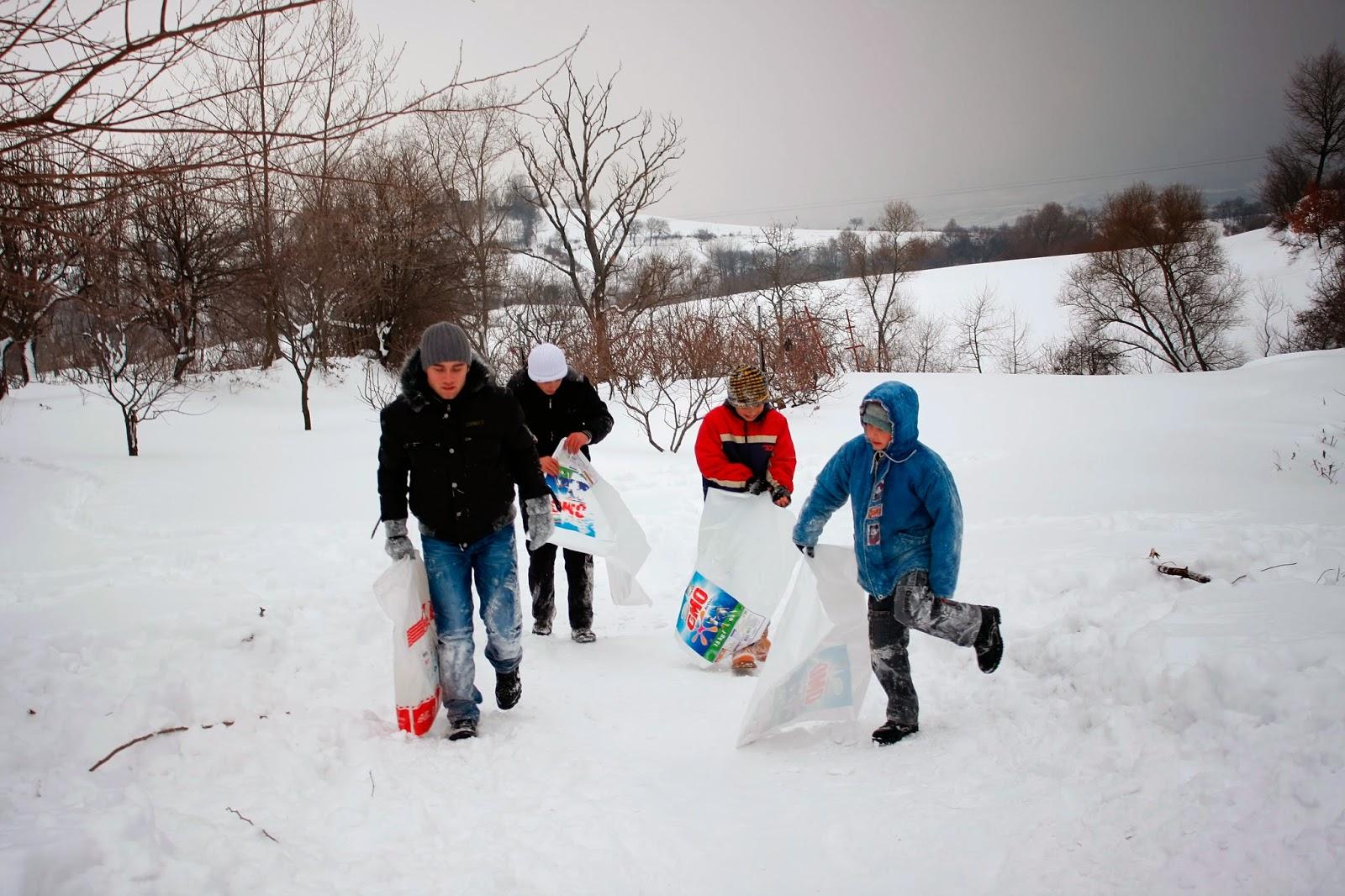 Sugören'de Kış - Karda Kayan Çocuklar-8