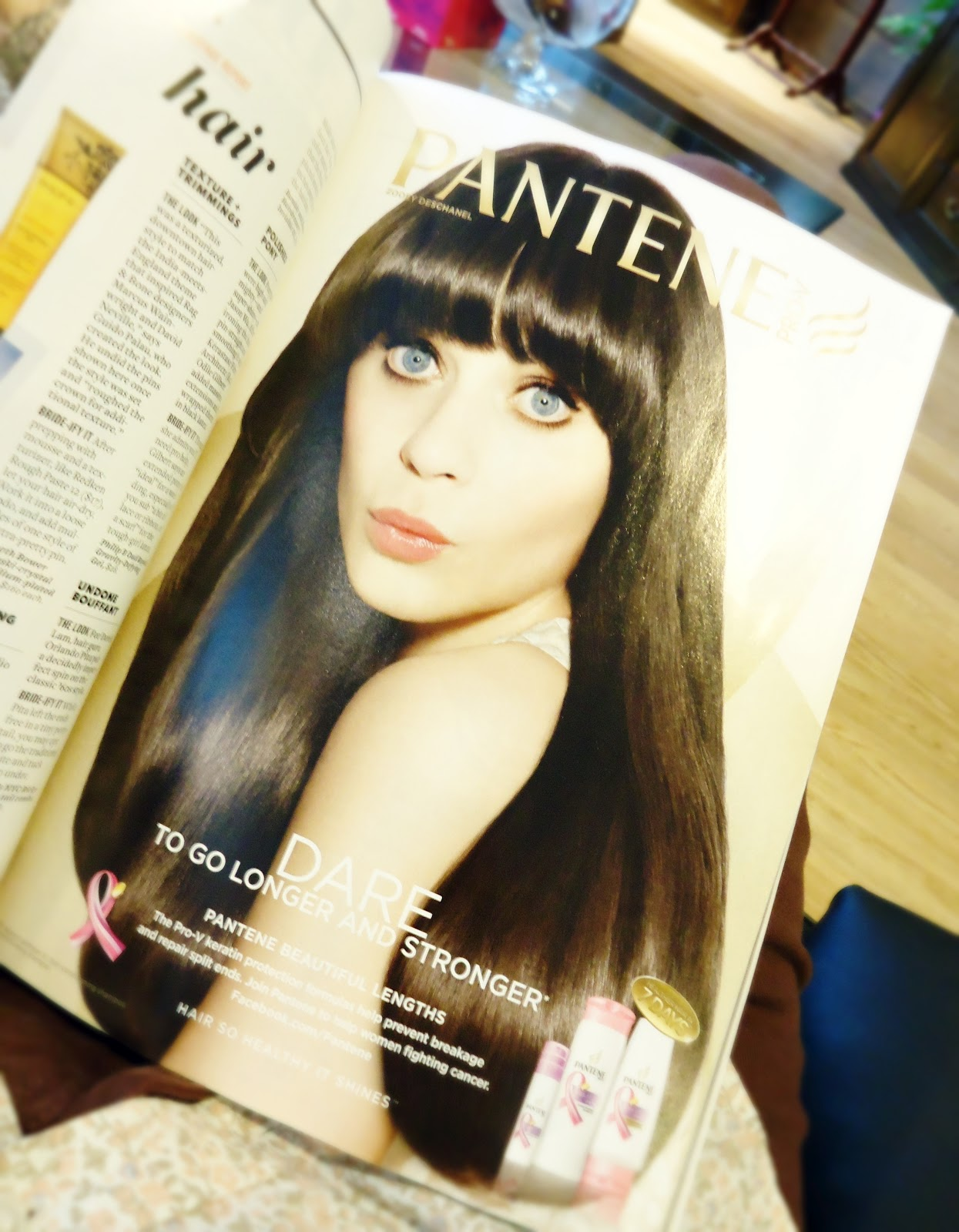 Brides Magazine: Katy Perry in Pantene