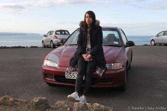 Ariadna Maskiver, Argentina, in Napier on a working holiday, had all her stuff stolen from her car while it was parked at the Bluff Hill Domain, Bluff Lookout, Bluff Hill, Napier. photograph