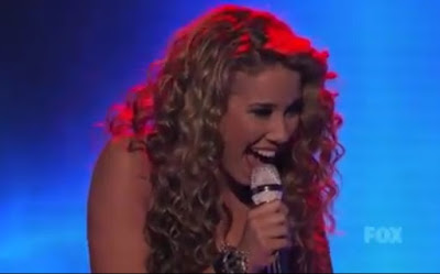 Haley Reinhart American Idol Top 3 photos pictures screencaps images Led Zeppelin What Is and What Should Be guitar dad fringe